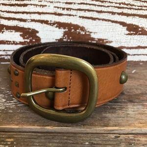 Gap Western Brass Studded Belt Size Medium